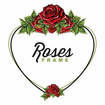 Elegante, vetorial, de, rosas, quadro