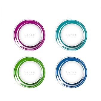 Elegantes elementos de design circular com espaço de texto