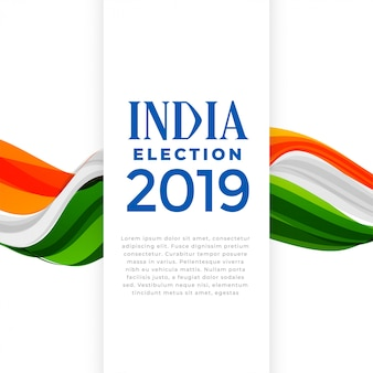 Eleição do cartaz do conceito de india