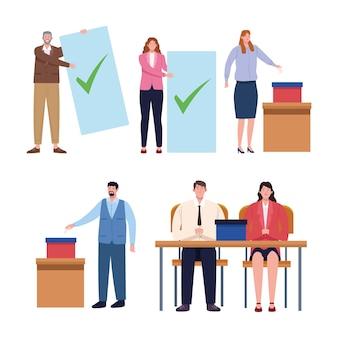 Eleição do dia de seis pessoas