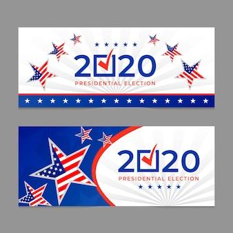 Eleição presidencial dos eua em 2020 - banners