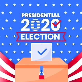 Eleição presidencial dos eua em 2020 com bandeira