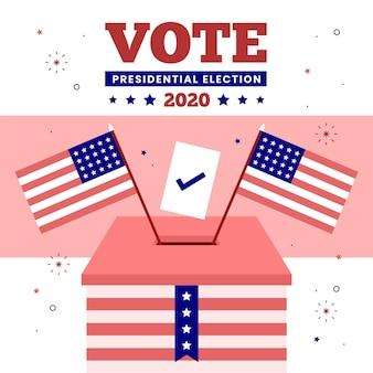 Eleição presidencial dos eua em 2020 - conceito