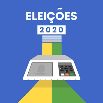 Eleições 2020 background design
