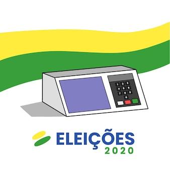 Eleições 2020 desenhado à mão fundo