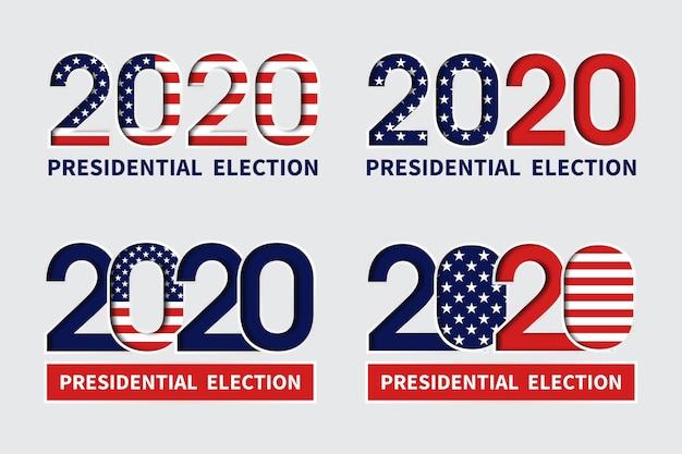 Eleições presidenciais dos eua em 2020 - logotipos