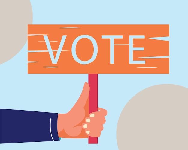 Eleições votando