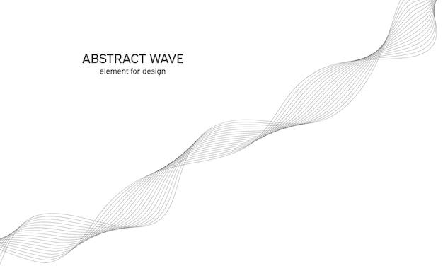 Elemento abstrato de onda para design
