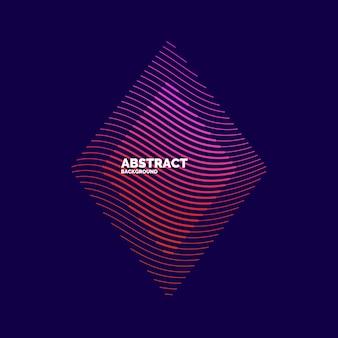 Elemento abstrato do vetor com ondas dinâmicas. ilustração adequada para design