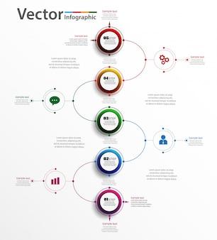 Elemento abstrato infográfico para negócios