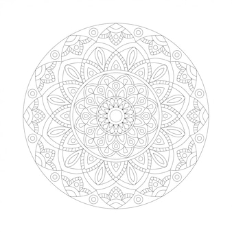 Elemento abstrato preto branco design. mandala redonda em vetor. modelo gráfico para seu projeto. padrão circular