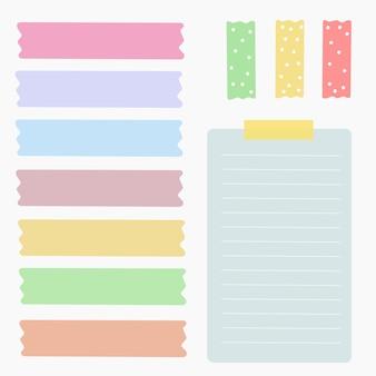Elemento colorido conjunto de vetores de papel