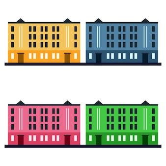 Elemento colorido do edifício do campus