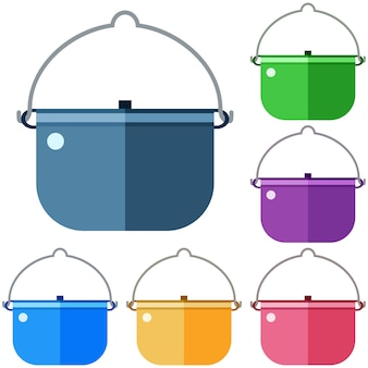 Elemento colorido do ícone do elemento plano elemento do jogo