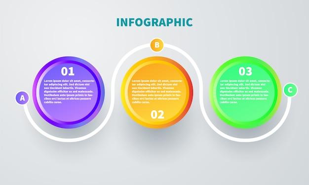 Elemento colorido infográfico ágil