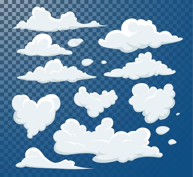 Elemento de arte do clipe de nuvens diferentes