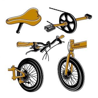Elemento de bicicleta dobrável