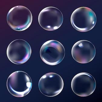 Elemento de bolha transparente em fundo marinho