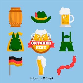 Elemento de coleção oktoberfest plana