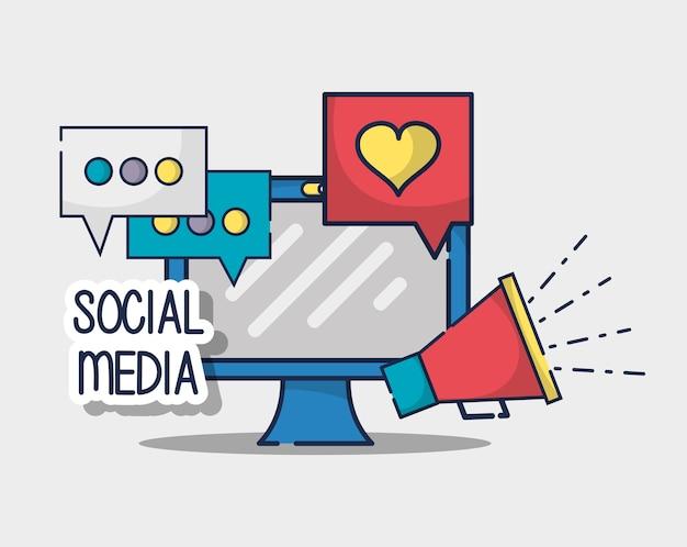 Elemento de conexão de rede social