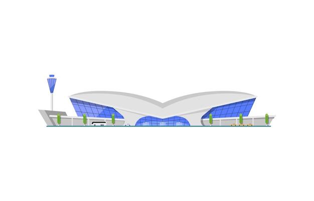 Elemento de construção de terminal de aeroporto moderno