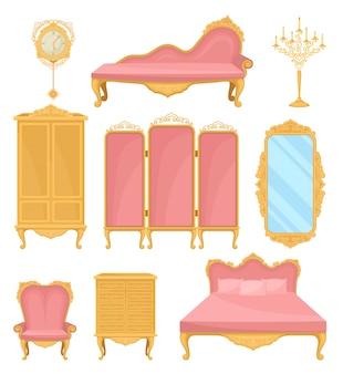 Elemento de decoração de coleção para sala de estar. móveis princesa.
