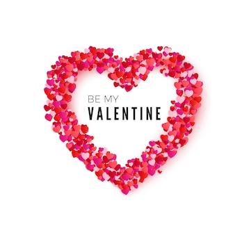 Elemento de decoração romântica para o dia das mães, dia dos namorados ou dia das mulheres Vetor Premium