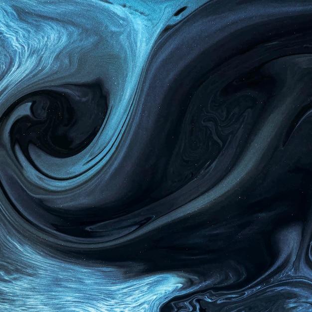 Elemento de desenho abstrato em aquarela azul