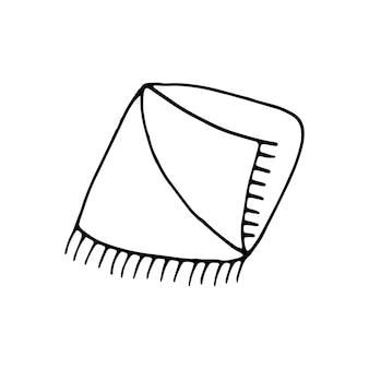 Elemento de desenho de mão única de ilustração vetorial de doodle de ano novo e natal elementos de inverno