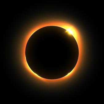 Elemento de desenho vetorial de eclipse solar