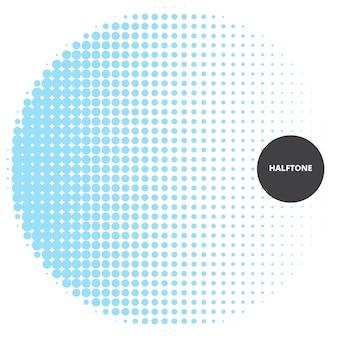 Elemento de design abstrato de meio-tom, sobre fundo branco