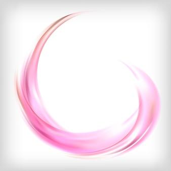 Elemento de design abstrato em rosa