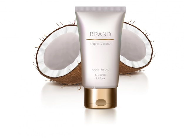 Elemento de design com cosméticos orgânicos