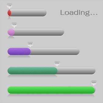 Elemento de design da barra de carregamento