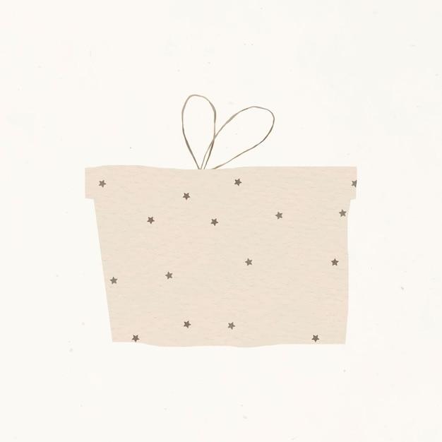 Elemento de design de caixa de presente linda e estrelado