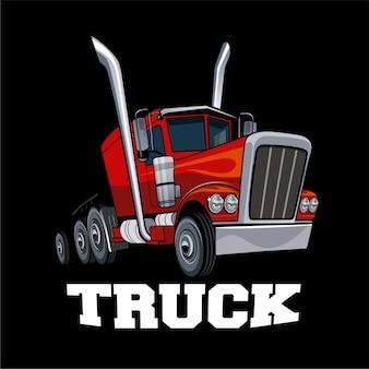 Elemento de design de caminhão americano