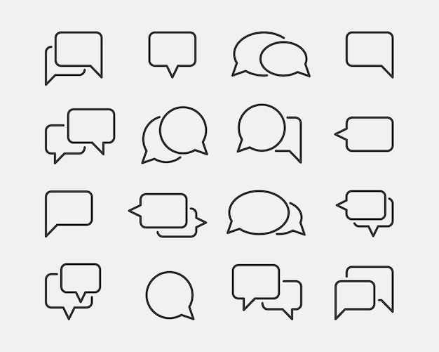Elemento de design de conjunto de ícones de bate-papo