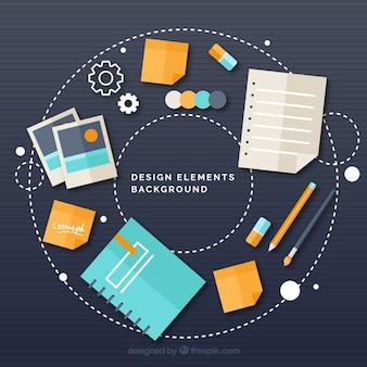 Elemento de design de fundo
