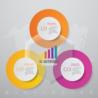 Elemento de design de gráfico de infografia
