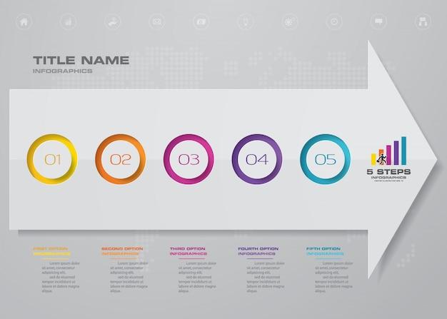 Elemento de design de gráfico de seta infográficos.