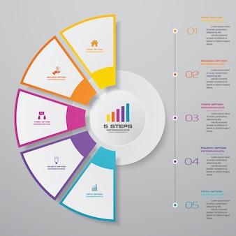 Elemento de design de gráfico infográfico