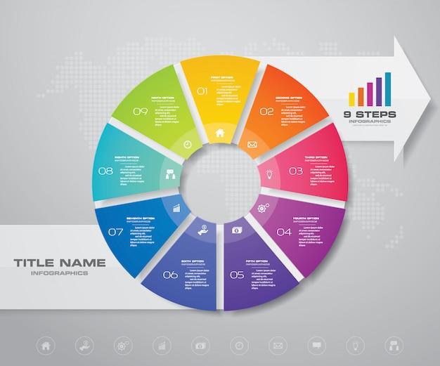 Elemento de design de infografia.