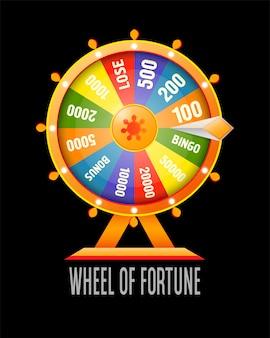Elemento de design de infográfico roda da fortuna