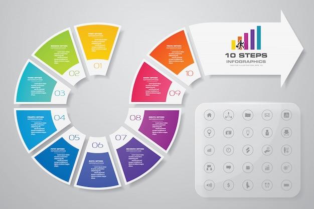 Elemento de design de infográficos de seta.