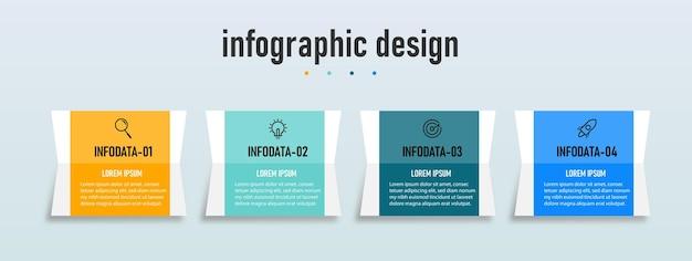 Elemento de design de infográficos profissionais