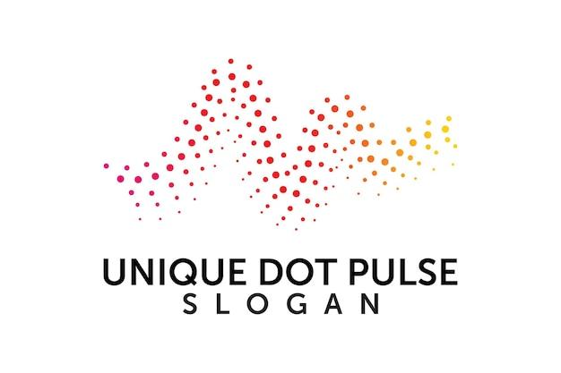 Elemento de design de logotipo de onda ou pulso de áudio exclusivo