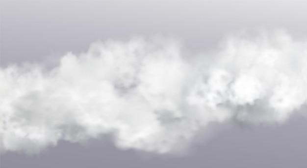 Elemento de design de nuvem de nevoeiro realista abstrato de vetor
