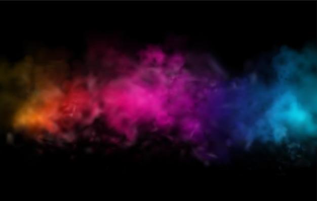 Elemento de design de nuvem de pó de cor brilhante abstrato de férias