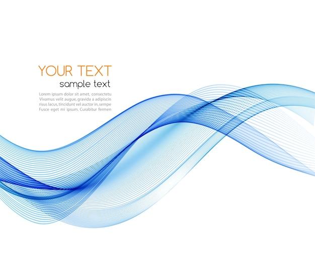 Elemento de design de onda abstrata azul.