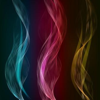 Elemento de design de ondas de cor abstrato vetorial.